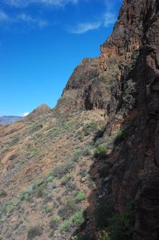 Felswände von Gran Canaria
