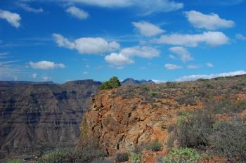 Bild Richtung Westen von Gran Canaria
