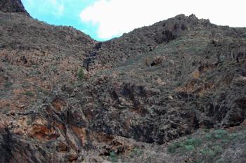 Foto des Abstiegsweges vom Amurga