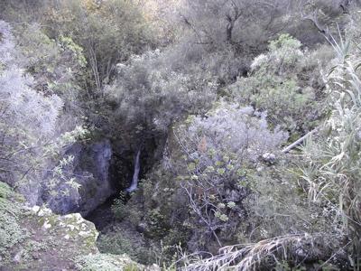 Wasserfall im Barranco de los Cernicalos