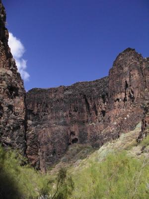 Wandern durch den Barranco Hondo