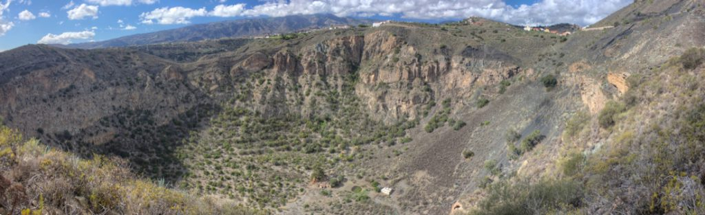 Blick in die Caldera de Bandama von Nordosten