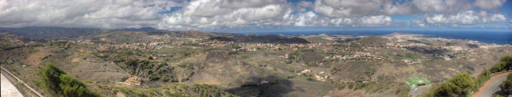 Ausblick auf den Nordosten von Gran Canaria vom Bandamaberg aus gesehen