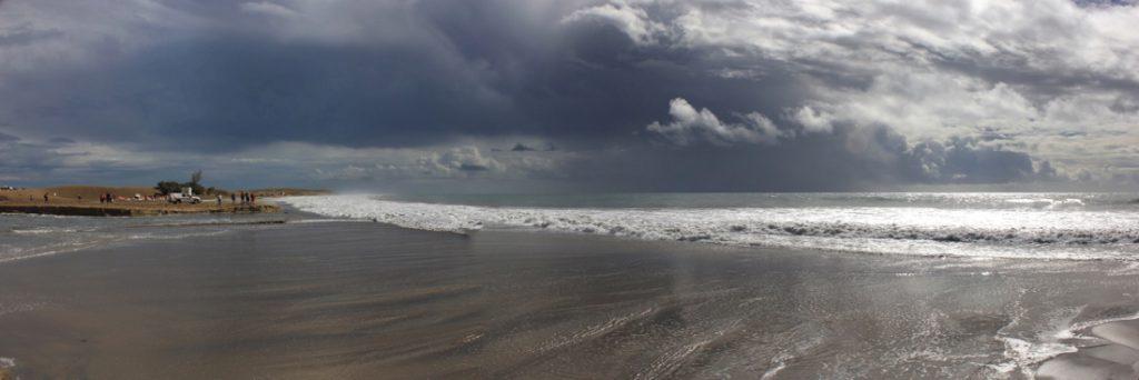Imposante Wolken über dem Strand von Maspalomas