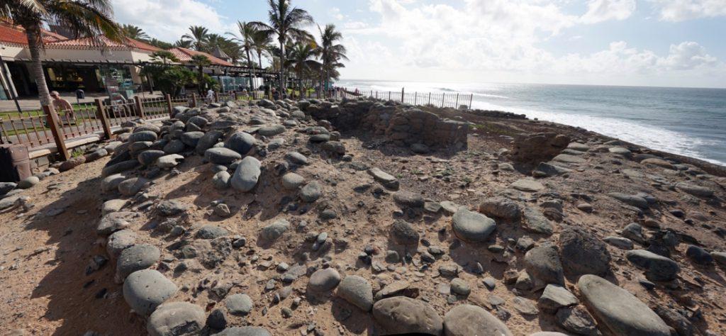Archeologische Fundstelle Punta de Mujeres Meloneras, Gran Canaria.