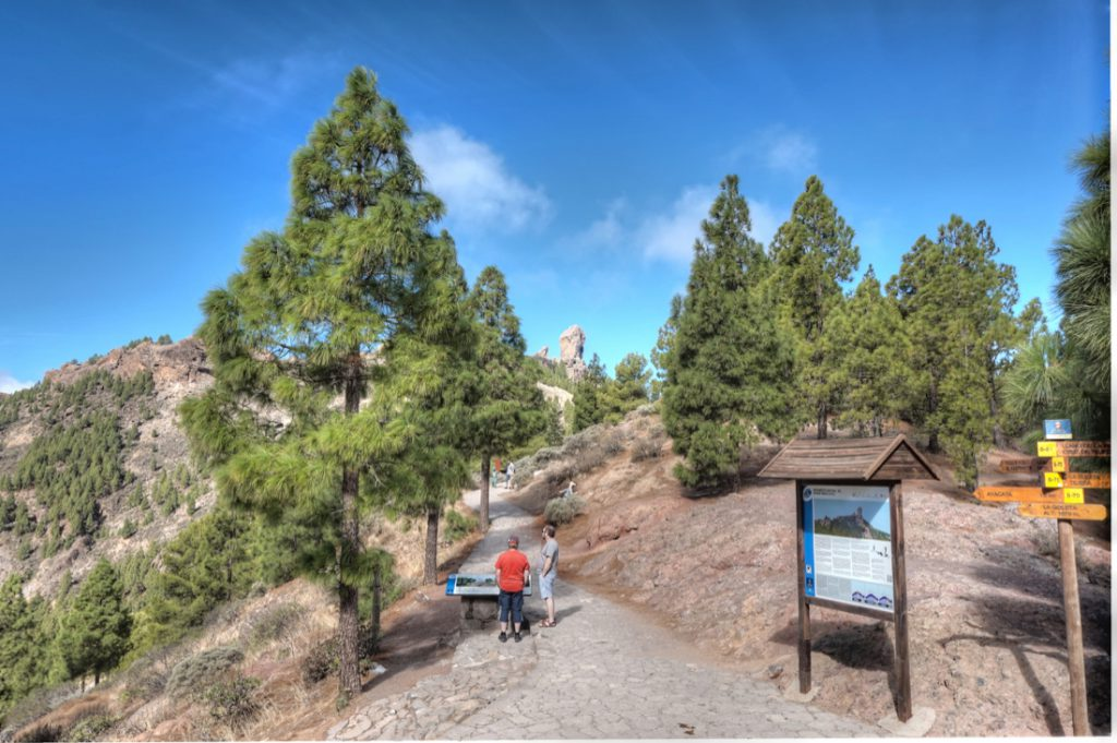 Startpunkt Wanderung Roque Nublo