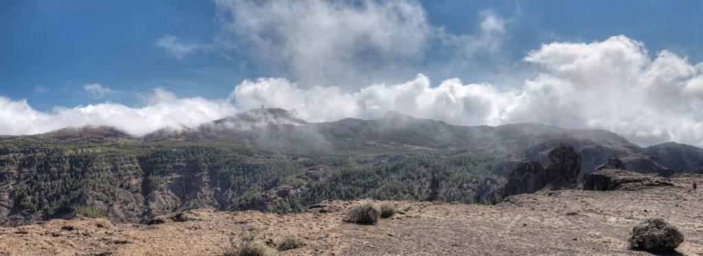 Blick vom Roque Nublo zum Pico de las Nieves