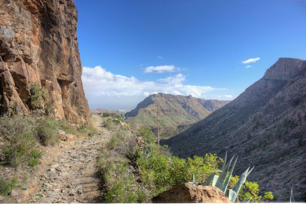 Wanderweg von San Bartolome zum Manzanilla Pass.